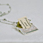 Letter Locket Necklace, Envelope Necklace, Friendship Necklace, Mom Gift