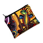Small Coin Purse in Colourful Indigenous Design fabric
