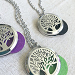 Tree of Life Aromatherapy Necklace, Essential Oil Necklace, Diffuser Necklace
