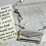 Letter Locket Necklace, I'll Be There Envelope Necklace, Friendship Necklace
