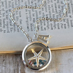 Starfish Necklace, Sea Star Necklace, Personalised Gift, Custom Floating Locket