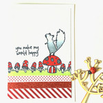 Squirrel Love/Valentine 'You make my world happy' Handmade C6 card