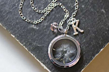 Dandelion Necklace, Wish Necklace, Inspirational Jewelry