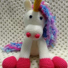 Unicorn, READY TO POST, Crochet toy, Girl Gift