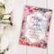 Floral Wedding Invitation.  Wedding Invite. Wedding Invitation. Digital File.