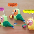 Lovebird / Lovebird Ornament / Bird Home Decor / Bird Decoration