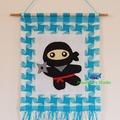 Ninja / Ninja Wall Hanging / Ninja Tapestry / Nursery Home Decor Gift
