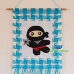 Ninja / Ninja Wall Hanging / Ninja Tapestry / Wall Hanging