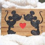 Classic Love Wooden Block Mount