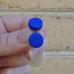 Blue stud earrings, blue earrings, everyday earrings, polymer clay jewellery