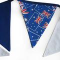 Australia Day Patriotic Flag Bunting. Party, Shop, Banner Decoration Boys Decor