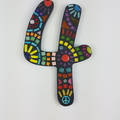 Large Mosaic House Numbers. Bright Multi-Coloured Mosaic Numbers, Mosaic Wall Ar