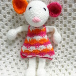 Mouse, READY TO POST, Crochet toy, Baby Girl Gift