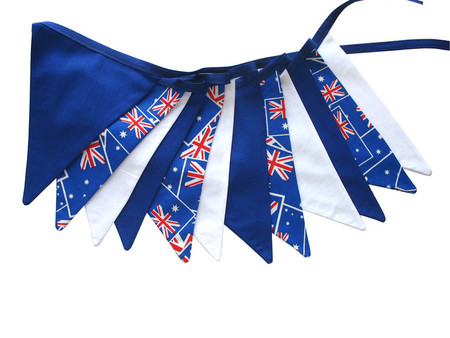 Australia Day Patriotic Flag Bunting. Party, Shop, Banner Decoration Boys Decor