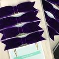 Velvet hair bow for ballet bun on antique bronze metal comb - custom colour -