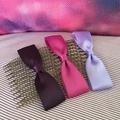 Satin hair bow for ballet bun on antique bronze metal comb - you choose colour -