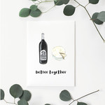 Better Together (Red Wine) Greeting Card