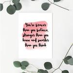 You're Braver, Dr Seuss (Pink) Greeting Card