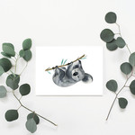 Sleeping Koala Greeting Card