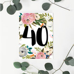 Vintage 40 Greeting Card