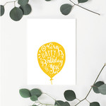 A Very Happy Birthday (Yellow) Greeting Card