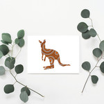 Kangaroo (Rust) Greeting Card