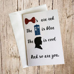 Doctor Who Rhyme card