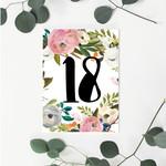 Vintage 18 Greeting Card