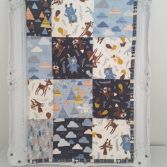 Baby quilts, woodland quilt
