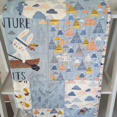 Baby quilts,  baby boy woodland quilt