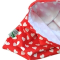 Lined Heart Toy Bag.  Handbag Organiser. Snack Bag. Pouch. Toddler Bag.