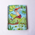 Lge Drawing / Sketch book - aprox 100 sheets recycled paper- frog, elf, pixie