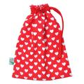 Lined Heart Toy Bag.  Handbag Organiser. Snack Bag. Pouch. Toddler Bag.