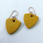 """XINA"" Hoops - Yellow Mustard (dots)"