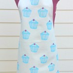 Cotton handprinted cupcake apron