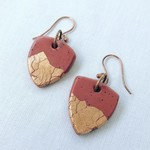"""""""XINA"""" Hoops - Ochre and Copper Foil"""