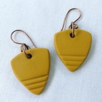 """XINA"" Hoops - Yellow Mustard (stripes)"