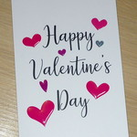 Valentines Day card- hearts