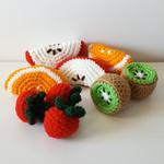 9 piece crochet fruit set
