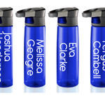 Name Vinyl Labels for Personalised Water Drink Bottles, lunch boxes or work.