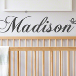 2 Personalised Name wall decal   childrens nursery   gift  Baby shower