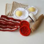 Breakfast Time! 10 piece crochet breakfast set