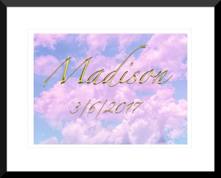 Baby Girl custom name digital print