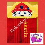 Fire Pup Marshall Personalised Hooded Towel