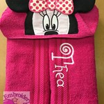 Girl Mouse Personalised Hooded Towel