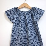 dress - gum blossom / organic cotton peasant-style / eco friendly / 2-3 years