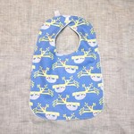 baby bib - sloths / organic cotton and bamboo towelling