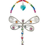Rainbow Dragonfly crystal sun catcher