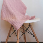 Crochet Baby Blanket in gorgeous Dusty Pink. Lightweight and beautifully soft.