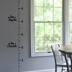 Childrens Ruler Growth Height Chart with Numbers & Inch Marks | Vinyl Wall Decal